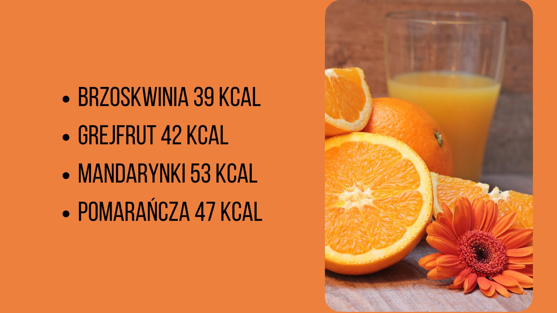tabela kalorii wybranych owoców i warzyw