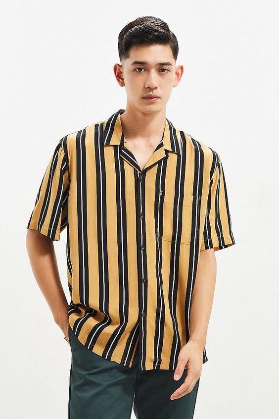 Look Masculino Tendência Verão 2019 Listra Verticais Moda