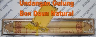 Undangan Gulung Box Daun Natural