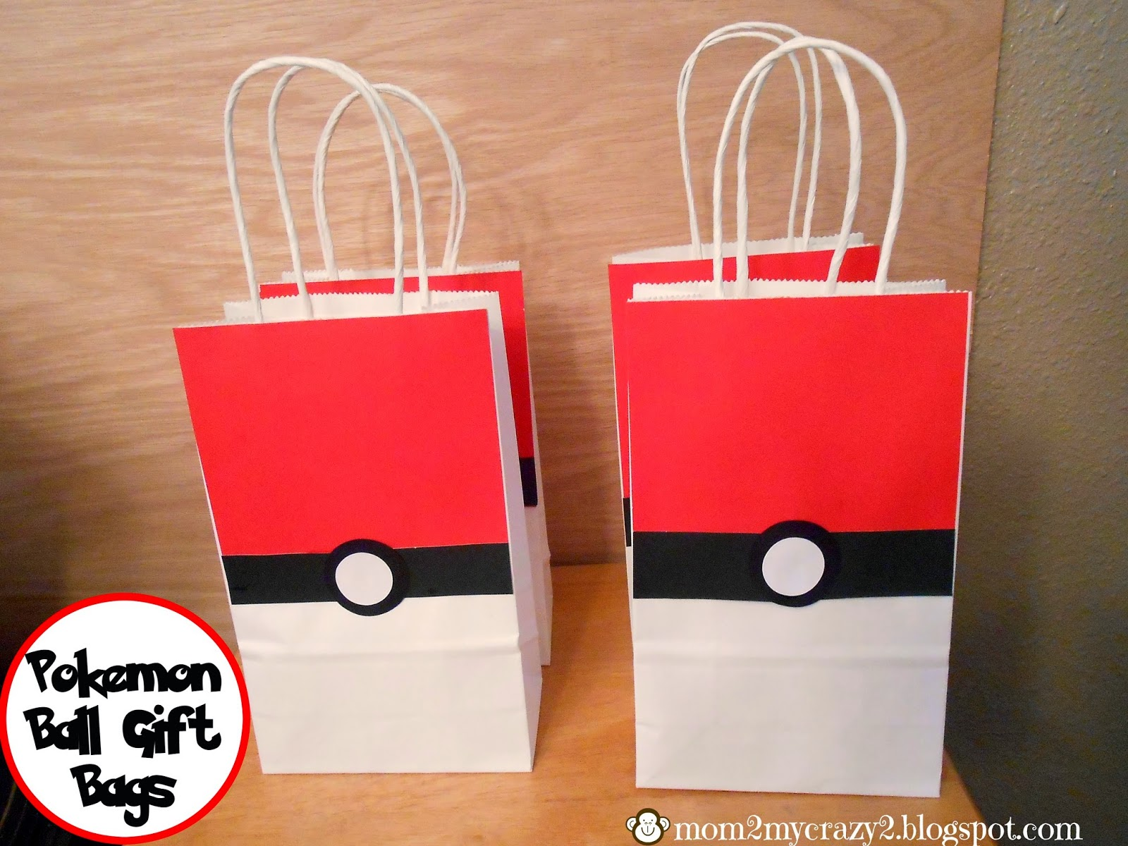 Pokemon Ball Gift Bags