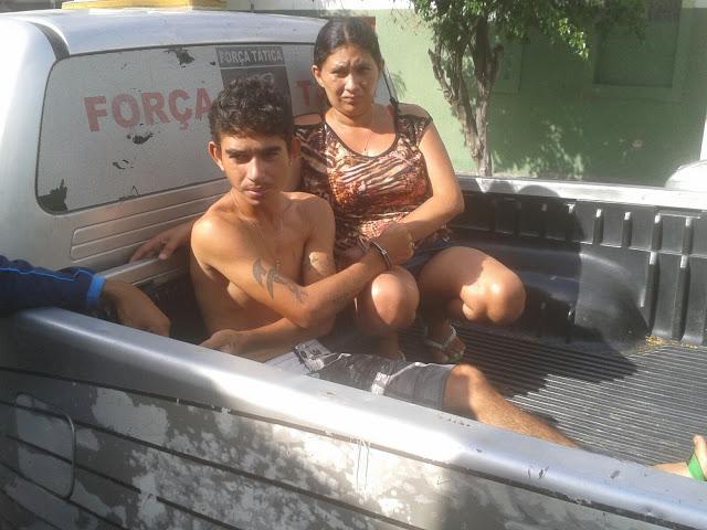 Casal é preso por tráfico de drogas, em Varjota.