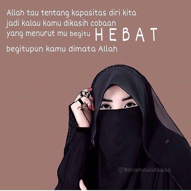 35 Gambar Caption Wanita Muslimah Cadaran Bijak Mutiara