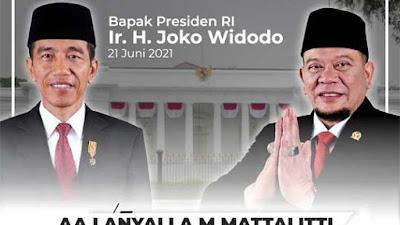 Ucapkan Selamat Ultah ke Jokowi, LaNyalla Optimis RI Keluar dari Pandemi