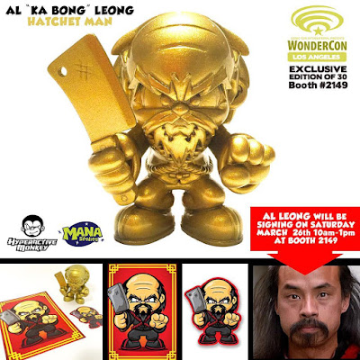 "WonderCon 2016 Exclusive Hatchet Man Resin Figure by Hyperactive Monkey x Al ""Ka Bong"" Leong"