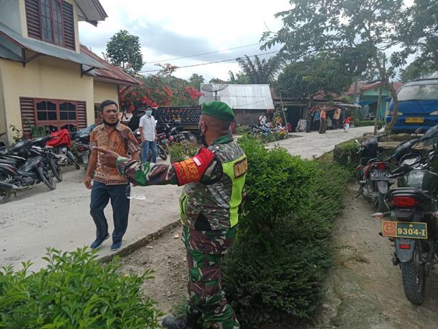 Komunikasi Sosial Cara Personel Jajaran Kodim 0207/Simalungun Himbau Warga Patuhi Protokol Kesehatan