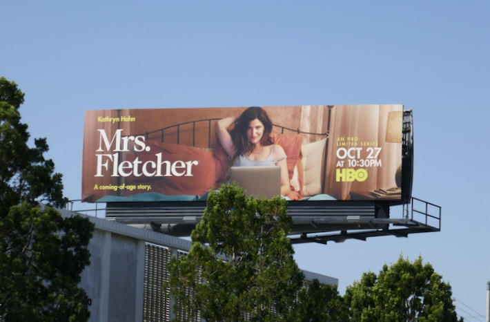Mrs Fletcher series launch billboard