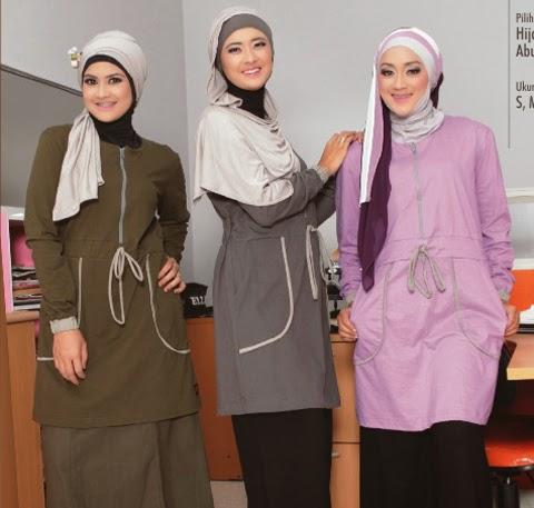 model baju muslim santai orang gemuk