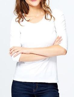 camiseta básica blanca de kiabi