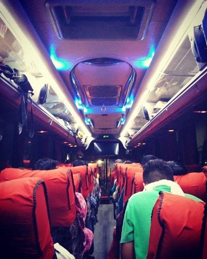 Interior Bus Eka Surabaya Yogya