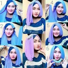 tutorial hijab pesta terbaru