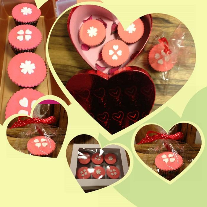 קאפקייקס מעוצבים ליום האוהבים – Valentine's day