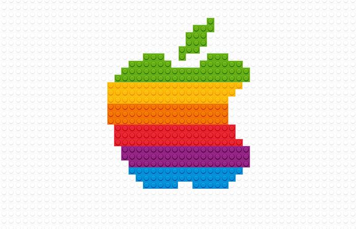 Logotipo Apple usando LEGO