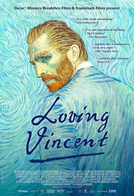 Cartel de la película de animación Loving Vincent