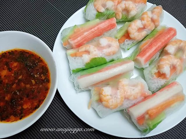 Resepi dan cara buat Vietnamese Spring Roll