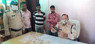 क्राईम ब्रांच एवं थाना पनागर पुलिस की संयुक्त कार्यवाही, 3 चोरियों का खुलासा 3 शातिर चोर गिरफ्तार