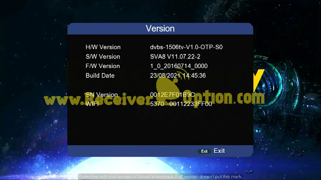DISCOVERY 6666 1506TV 512M 4M NEW SOFTWARE 23 AUGUST 2021