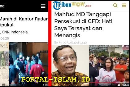 Massa PDIP Geruduk Kantor Radar Bogor, Staf Dipukul; Prof Mahfud Apa ini Bukan Persekusi? Tak Tersayat dan Sedih? Apa Ini Pancasila 100 Juta?
