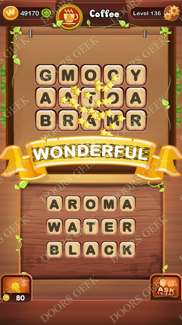 Word Bright Level 136 Answers, Cheats, Solutions, Walkthrough for android, iphone, ipad and ipod