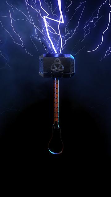 Thor`s hammer phone wallpaper HD
