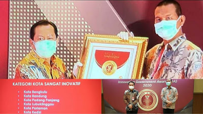 Kota Pariaman Raih Innovative Government Award (IGA) Tahun 2020 Kategori Sangat Inovatif