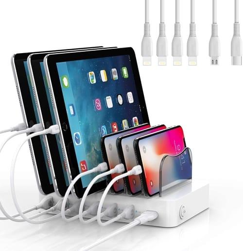 SooPii CS61 Premium 6-Port USB Charging Station