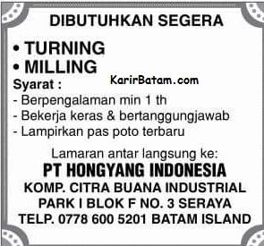 PT. Hongyang Indonesia