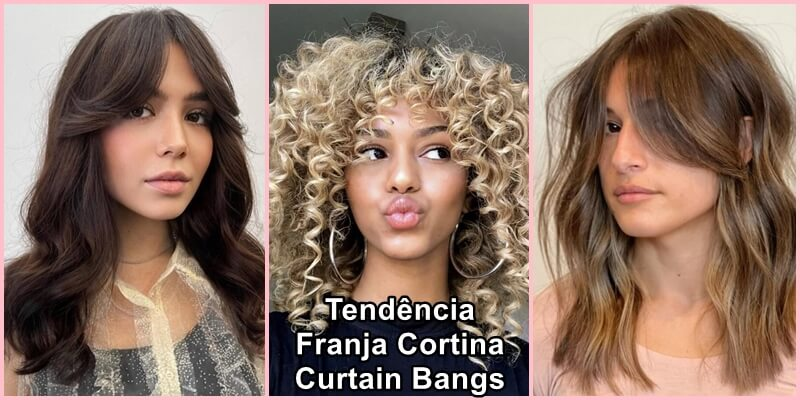 Tendência Franja Cortina - Curtain Bangs