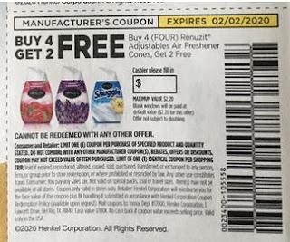 Renuzit Gel Air Freshener b2go free coupon
