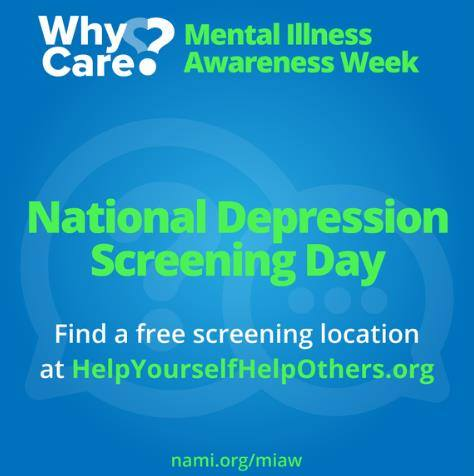 National Depression Screening Day Wishes For Facebook