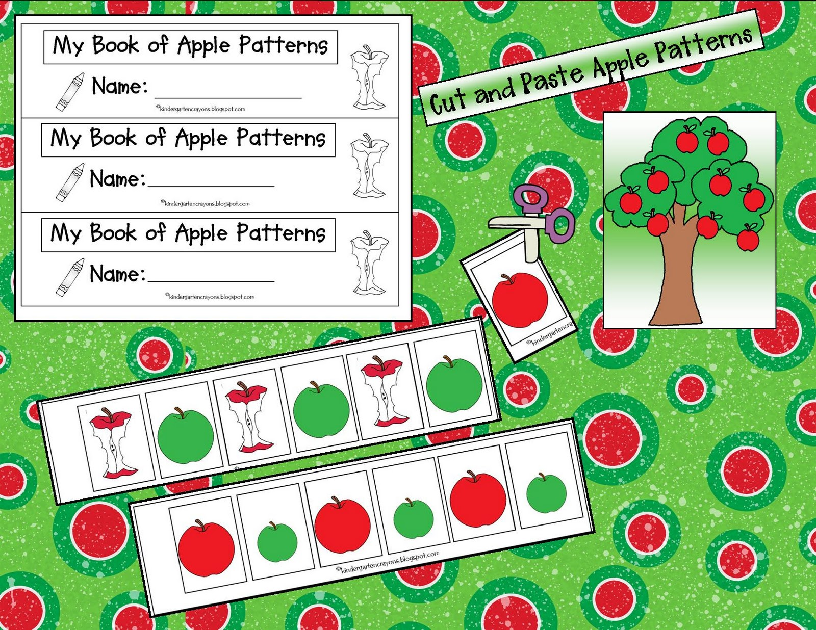 Kindergarten Crayons Apple Pickin Not Nose Pickin