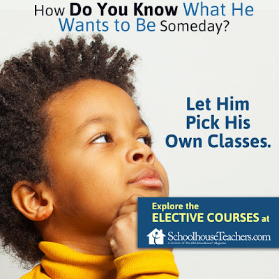 Text: How do you know what he wants to be someday? Let him pick his own classes. Image of boy thinking