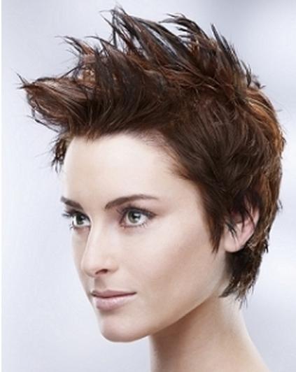 Strange Short Hairstyles Short Spiky Hairstyles For Women Short Hairstyles Gunalazisus