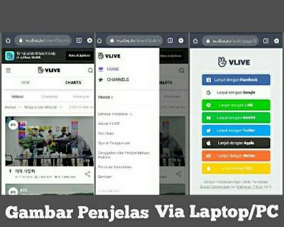 membuat akun Vlive via PC\Laptop