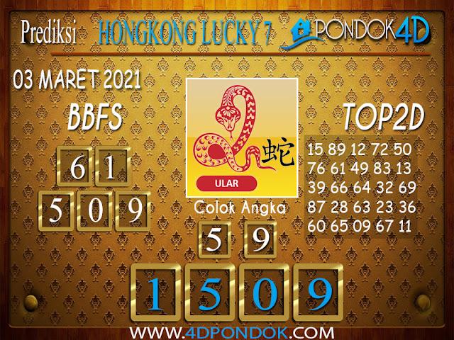 Prediksi Togel HONGKONG LUCKY7 PONDOK4D 03 APRIL 2021