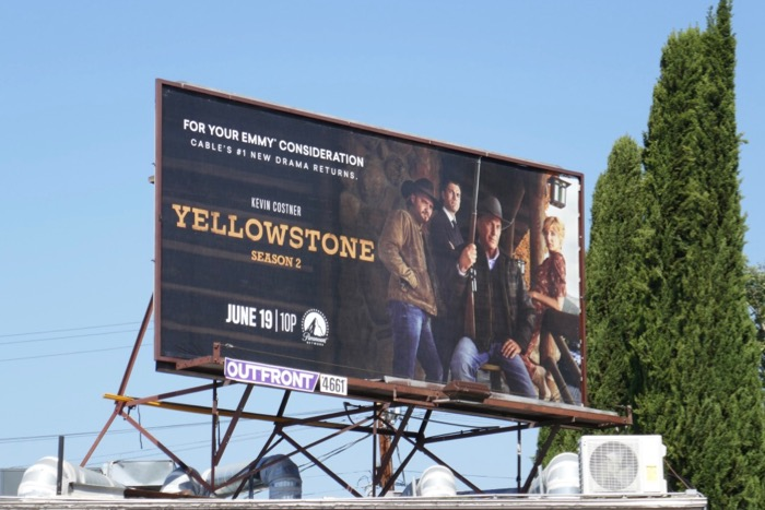 Yellowstone season 2 billboard