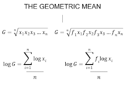 ​​Finding the Mean Geometric Value (Non-Group and Group Data)