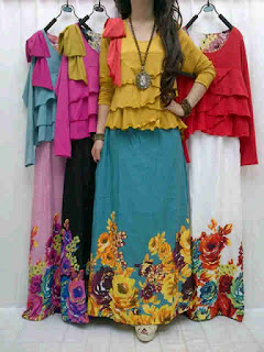 Maxi Flower + Blus Jersey fit to L