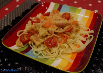 Carole's Chatter: Salmon & Bacon Pasta with Alfredo Sauce