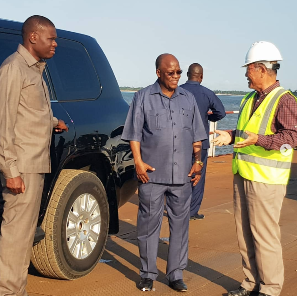 President Magufuli's visit to the construction of a maritime