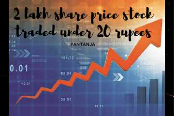 The real value of One stock that is traded under 20 rupees is more than 1,00,000 rupees.