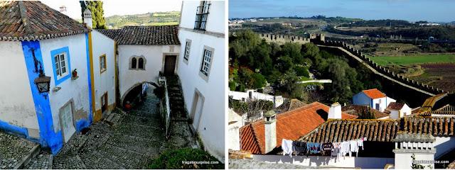 Passeio pelas muralhas de Óbidos, Portugal