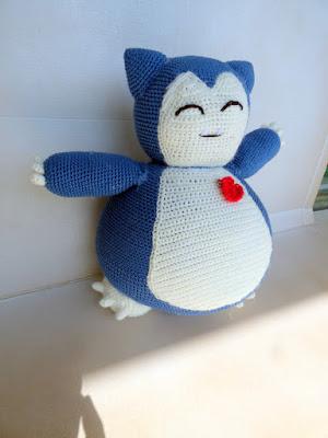 crochet amigurumi snorlax pokemon pillow