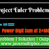 Project Euler | Problem 16 | Power digit sum