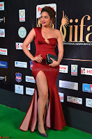 Natasha Nebasha in a Leg Slit Sleeveless Stunning Red Gown at IIFA Utsavam Awards 2017 019.JPG