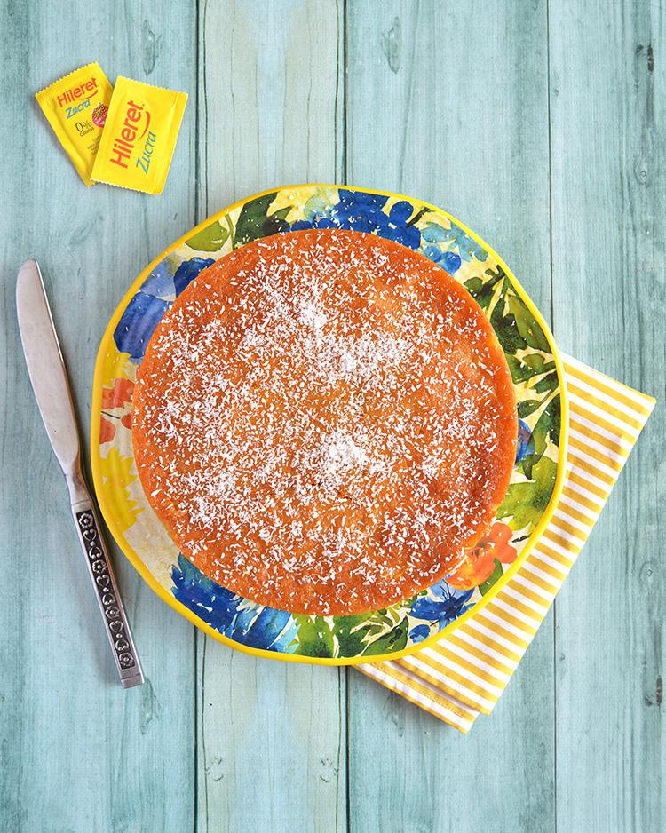 Torta húmeda de calabaza y coco