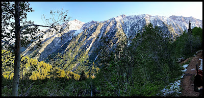 Mountains by Gloria Falls up White Pine Lake Trail