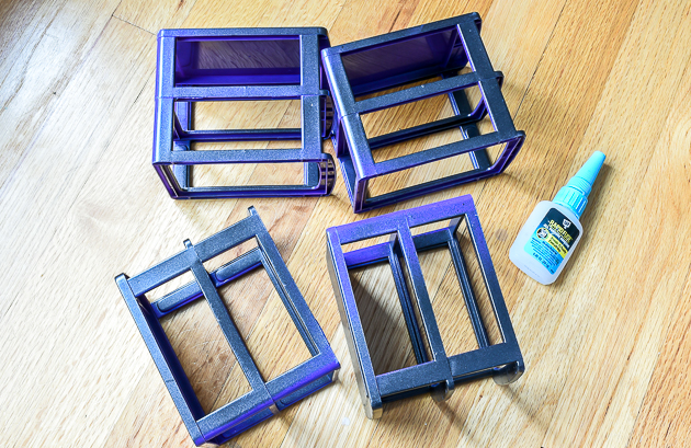 Glue plastic Dollar Tree frames together