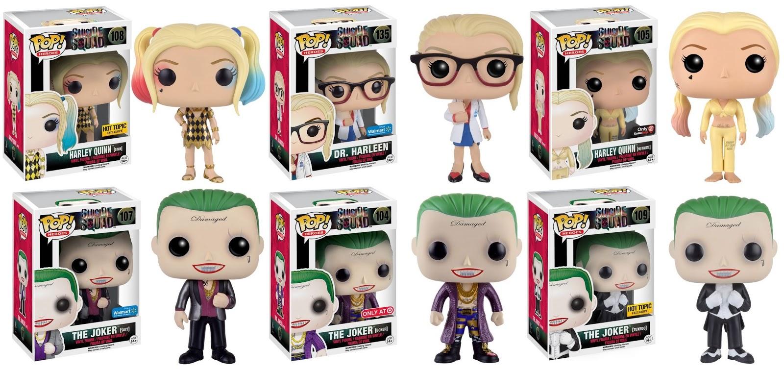 The Blot Says Suicide Squad Retailer Exclusive Harley Quinn Bott Funko Pop Emperors Kronk Joker Figure Variants By
