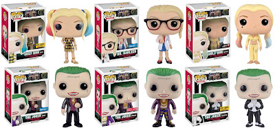 Suicide Squad Retailer Exclusive Harley Quinn & The Joker Pop! Figure Variants by Funko
