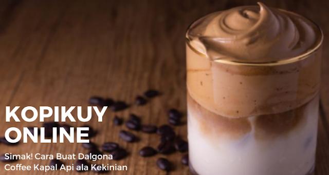 Cara Buat Dalgona Coffee Kapal Api